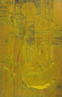 Taking the Sun, 1995; Woodcut matrix; Image size: 608 x 935 mm