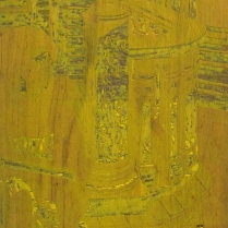 Taking the Sun, 1995; Woodcut matrix; Image size: 608 x 935 mm