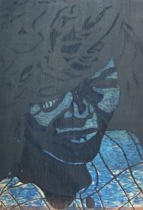 Gloria, 1995; Woodcut matrix; Image size: 913 x 610