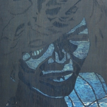 Gloria, 1995; Woodcut matrix; Image size: 913 x 610