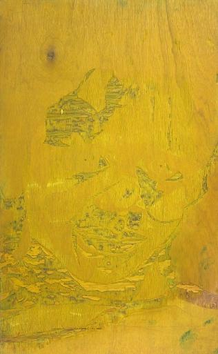 Barret in Three Color, 1992; Woodcut matrix; Image size: 1016 x 608 mm