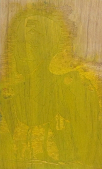 Mara Almost Twenty, 1999; Woodcut matrix; Image size: 939 x 612