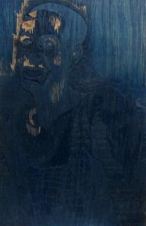 Mara Almost Twenty, 1999; Woodcut matrix; Image size: 967 x 609