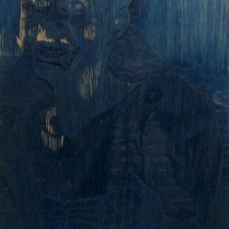 Mara Almost Twenty, 1999; Woodcut matrix; Image size: 967 x 609