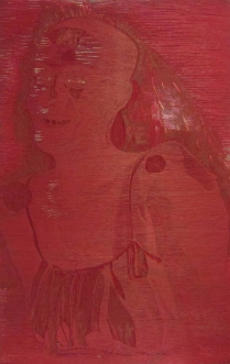 Mara Almost Twenty, 1999; Woodcut matrix; Image size: 913 x 605