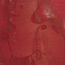 Mara Almost Twenty, 1999; Woodcut matrix; Image size: 913 x 605