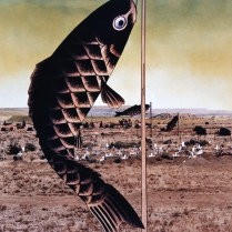 Japanese Children's Day Carp Banners, Paguate Village, Jackpile Mine UraniumTailings, Laguna Pueblo Reservation, New Mexico, 1990, 1993, Chromogenic print, 17X22 in.