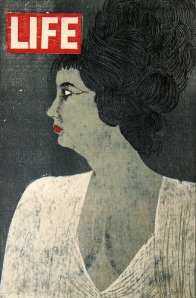 Hollywood Queen, 1962; woodcut; image: 410x268 mm