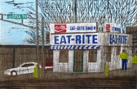 Eat-Rite, 2003; woodcut; image: 280x432 mm
