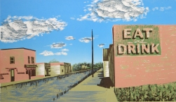 Eat and Drink, 2006; woodcut; image: 219x381 mm