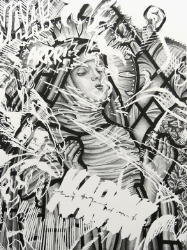 The Wretched Sound of Mysticism Dying, 2015; lithograph (407x306 mm)