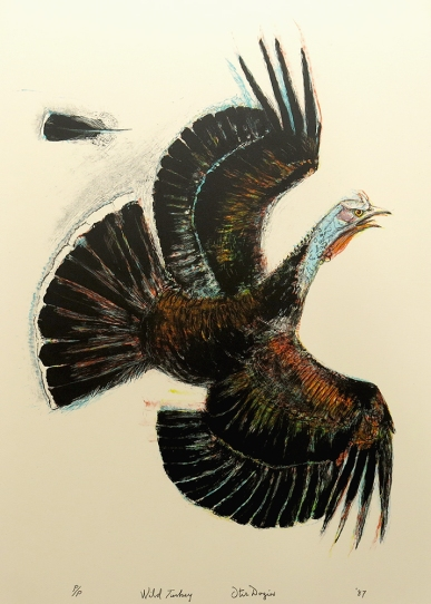 Otis Dozier, Wild Turkey, 1987; lithograph (618x427mm)