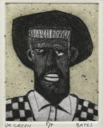 David Bates; Dr. Green, 1988; lithograph (115x92mm)