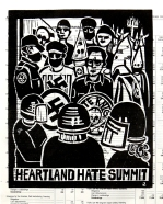 Eric Avery; Hateland, 1994; Linocut (205x166mm)