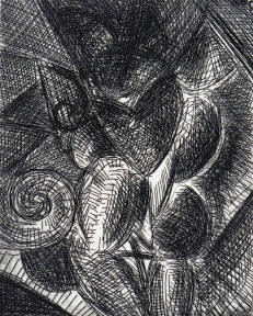 Dan Rizzie; Untitled, 1987; etching (114x91mm)
