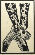 Eric Avery; Not the Feet of the One and Only, 1997; linocut (506x329mm)