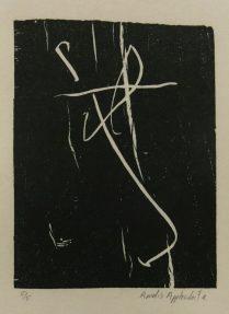 Tzigane, 2014; woodcut