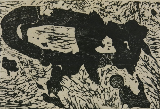 Have Courage, 2014; woodcut