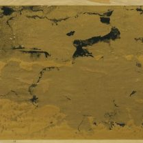 Untitled gold and black test for a screen print
