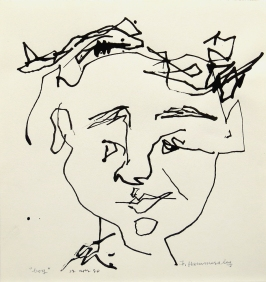 boy, 1980; ink on paper (182x171mm)