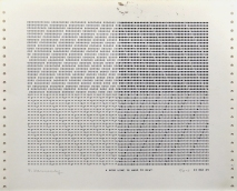 A Good Line Is Hard to Beat, 1969; impact printer ink on paper (128x265mm)