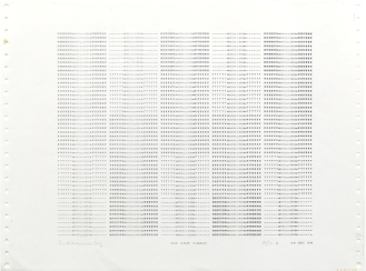The Same Change, 1969; impact printer ink on paper (219x264mm)