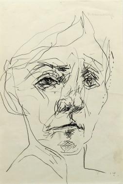 Tanya, 1975; graphite on paper (250x165mm)