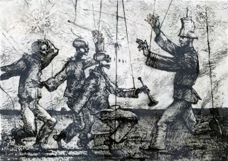 Robert Levers, Victory: the Celebration, 1991; intaglio, softground