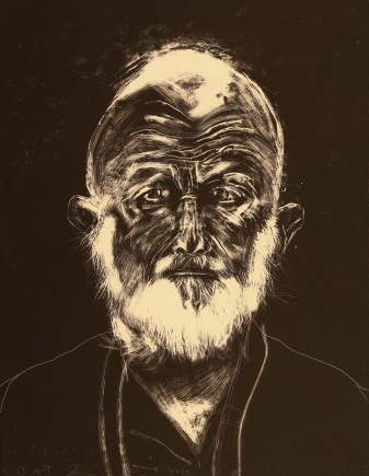 Jim Dine, White Beard, 2010; lithograph (620x490mm)