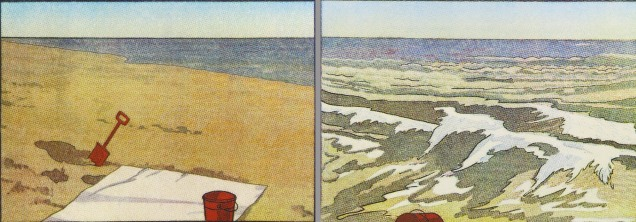 Low Tide + High Tide, 2008; screen print, diptych (447x1280 mm)