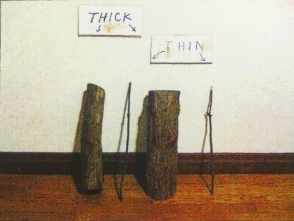 Thick + Thin, 2012; screen print (459x610 mm)
