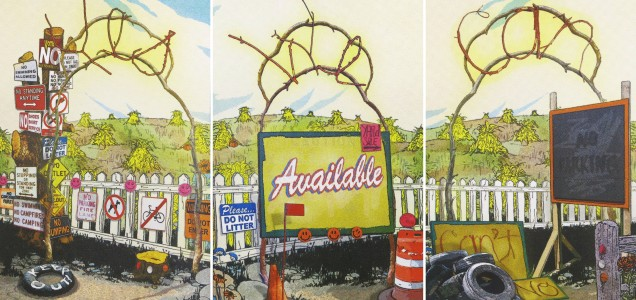 Yes, We Can, 2009; screen print, triptych (645x1311 mm)