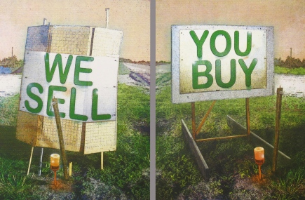 We Sell + You Buy, 2013; screen print (608x 916 mm)
