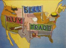 Buy, Sell, Trade, 2007; screen print (429x589 mm)