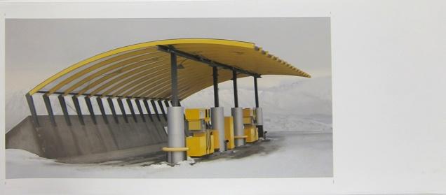 Carolyn Bunt; Station to Station (you drive like a demon), 2012; inkjet