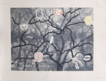 Paul Coldwell; Lines and Branches, 2012; screen print