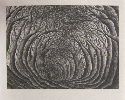 Stanley Donwood; February Holloway, 2013; inkjet test proof