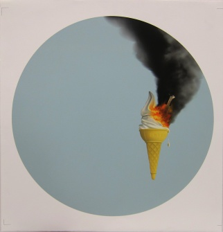 Richard Falle; Ice Cream Rocket Disaster, 2013; inkjet proof