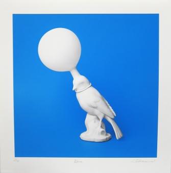 Sebastian Schramm; Blue, 2012; inkjet