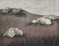 Judy Youngblood; Baptist Encampment #3, 1980; intaglio (518x665 mm)