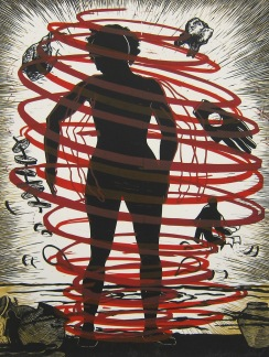 Judy Youngblood; Crossing Over #3, 1991; linocut (650x485 mm)