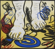 Judy Youngblood; Lurking Under Toe, 1992; linocut (302x342 mm)