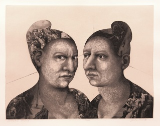 Julie Speed; Women's Studies, 2005; Etching, polymer plate (355x464 mm)
