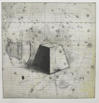 Kim Bauer; Flamsteed I, 2012; intaglio (327x302 mm)