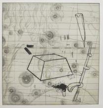 Kim Bauer; Flamsteed II, 2012; intaglio (328x301 mm)