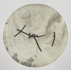 Kim Bauer; pwe III, 2008; offset intaglio (diameter 290 mm)