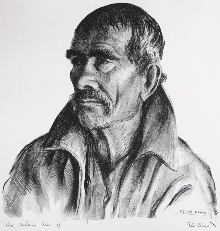 Peter Hurd; Don Antonio Saiz, 1936; lithograph (290x295 mm)