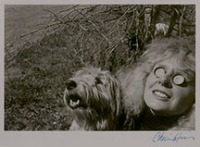Cherie Hiser (1935 -2018); Self Portrait with Sandy, 1974; silver gelatin print