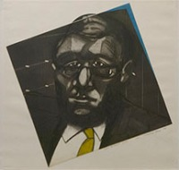 Conrad Ross (born 1931); Self Portrait, 1970; intaglio (597x623 mm)