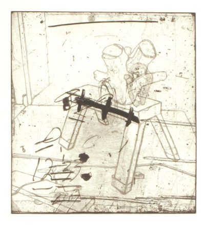 Kim Bauer; BCM VI, 2003; etching 328x302mm)